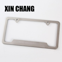 Wholesales custom stainless steel creative car license plate frame