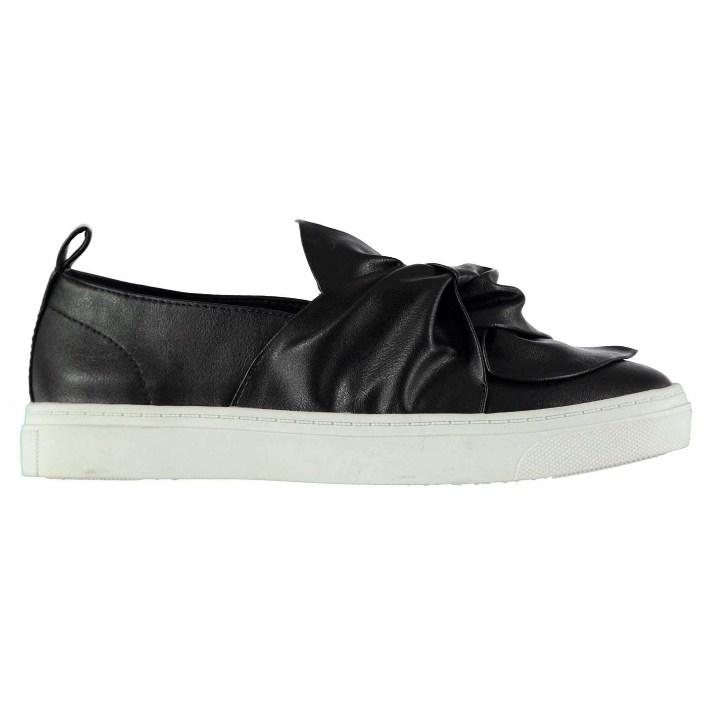3401f0c273de Fabric Womens Bow Slip Trainers On Casual