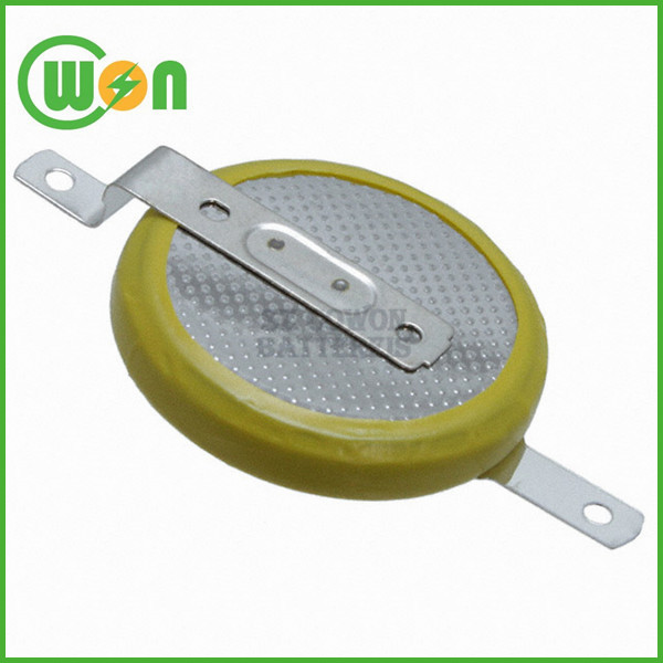 lithium coin battery 3V cr2032 with solder tabs customized tab terminal