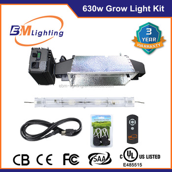 hps de 630w cmh double ended grow light for hydroponics kits