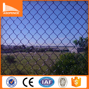 hot sale paint galvanized chain link fence with 60*60mm opening fence
