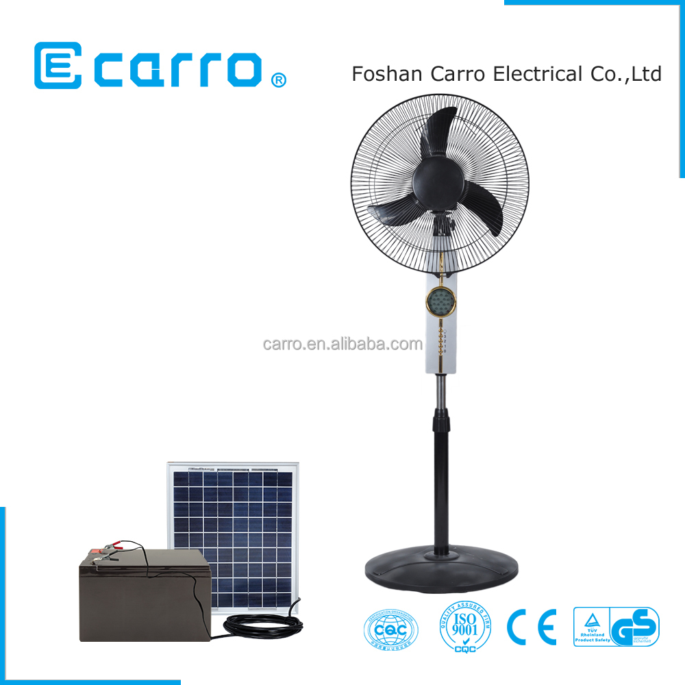Guangdong factory home 12v 15w solar dc stand fan