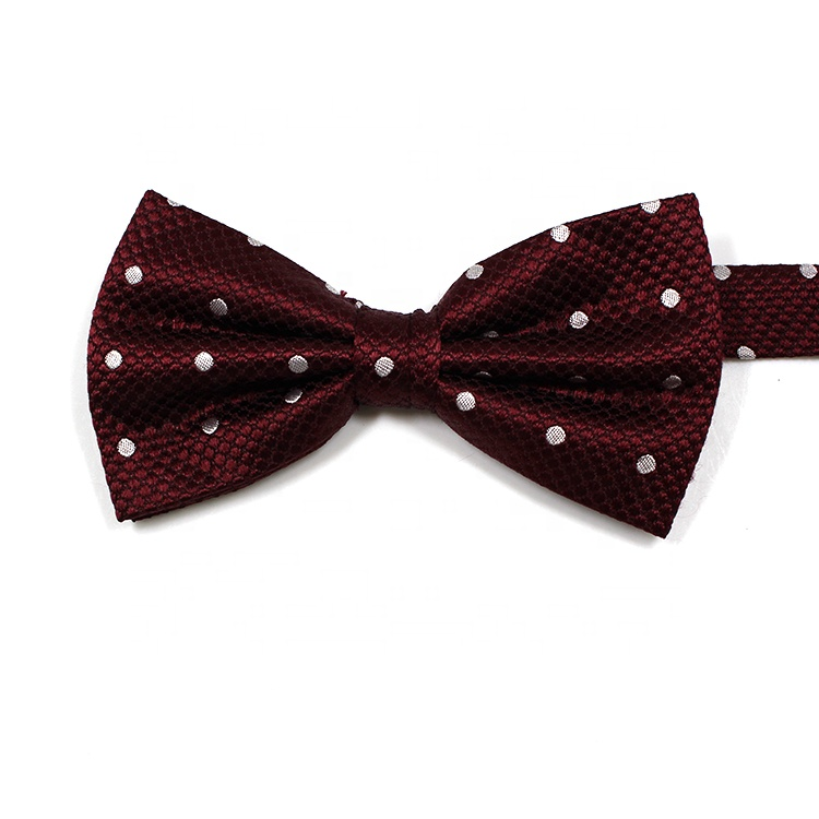 Vendita calda red dots mens wedding bow tie
