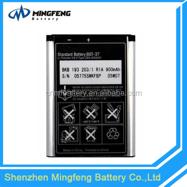 Factory price OEM for sony ericsson bst-37 3.6v 900mah lithium battery pack