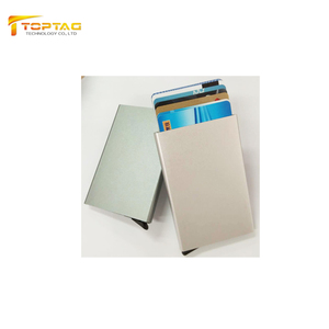 Credit Card Holder Metal Blank Aluminum Money Clip Wallet with RFID Blocking