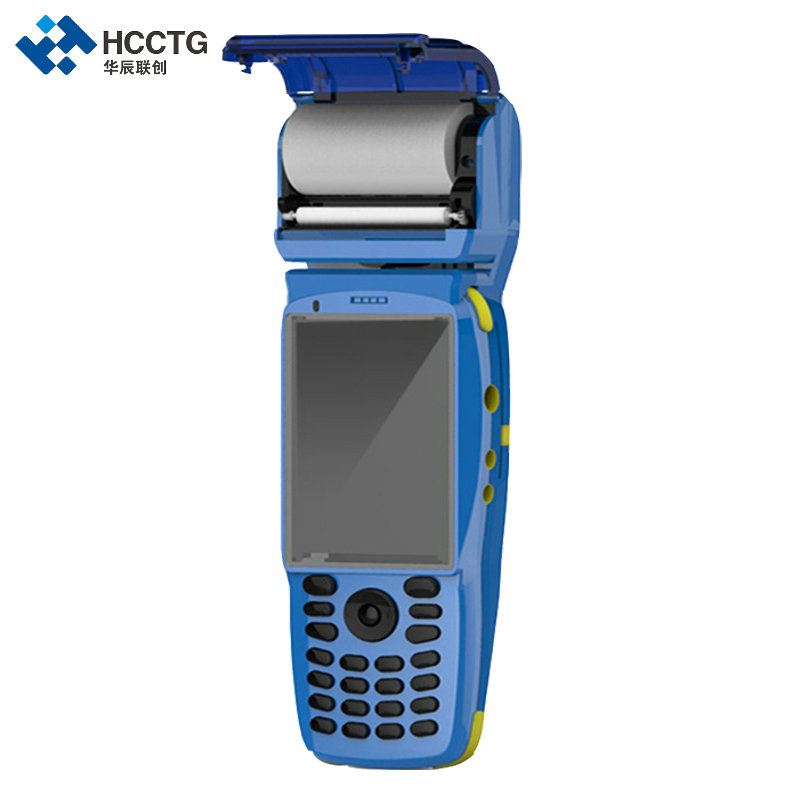 3G Android 1D 2D Barcode Scanner PDA With Built-in Printer HPC3502