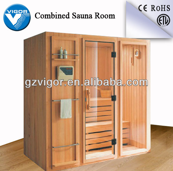 Factory finland spruce wood dry sauna / sauna room dry