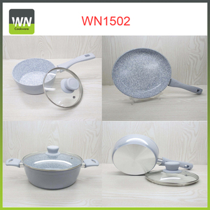 High quality cookware sets grill pan marble ceramic coating pan for promotion