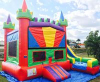 5 in 1 inflatable bounce house colorful inflatable castle and slide for sale
