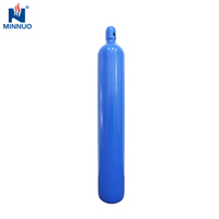 China brand Minnuo 40l oxygen gas cylinder high pressure compressed air cylinder for Poland Europe Singapore