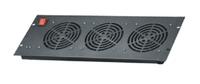 19 inch server rack cooling solution heat removal 3fan unit ventilation
