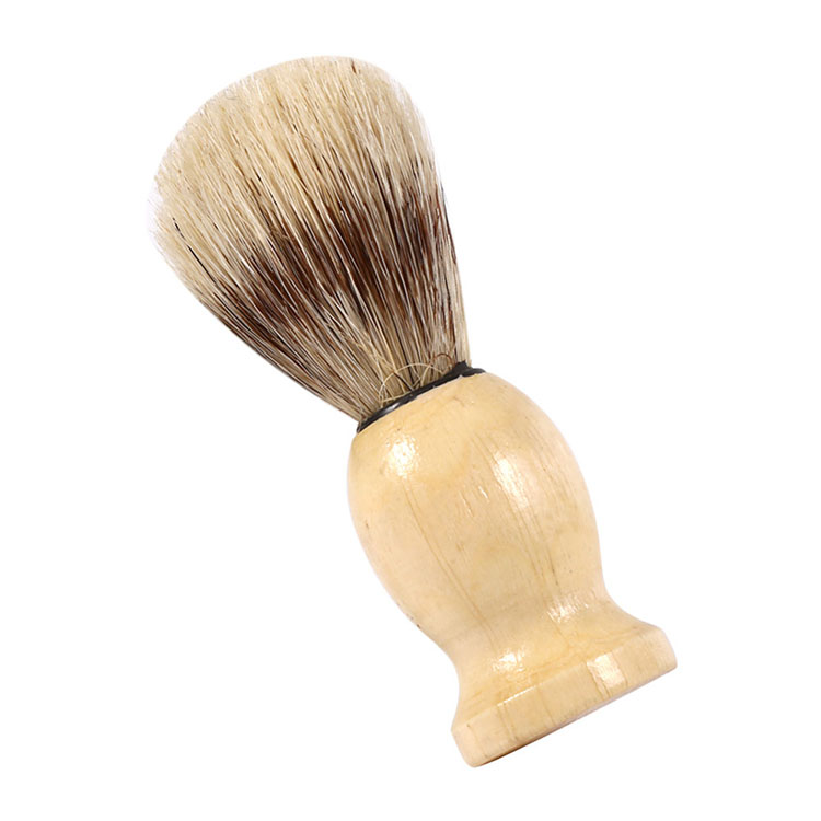 Soft Wood Handle Shaving Razor Brush Facial Beard Hair Cleaning Brush for Barber Salon Man Shave Brush Cosmetic Tools