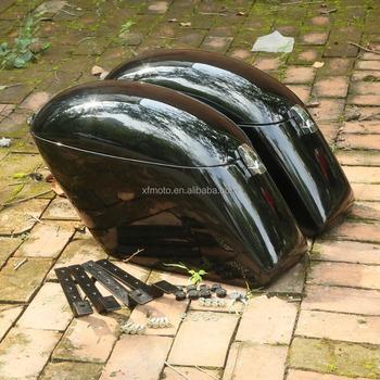 New Hard Saddle Bags W Mounting Kit For Kawasaki Vulcan 800 900