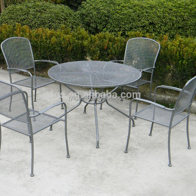 Metal Mesh Outdoor Dining Round Table