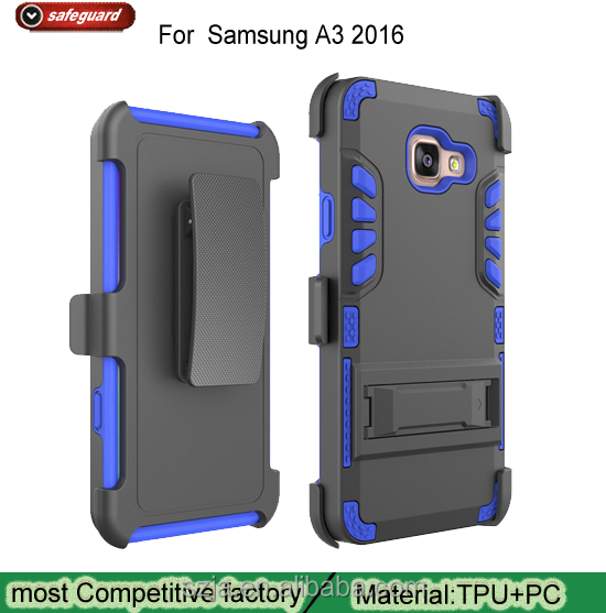 New 3 in 1 Combo Armor Phone Cover For Samsung Galaxy A3 2016 Outdoor TPU PC Kickstand Armor Case For Samsung A3 2016