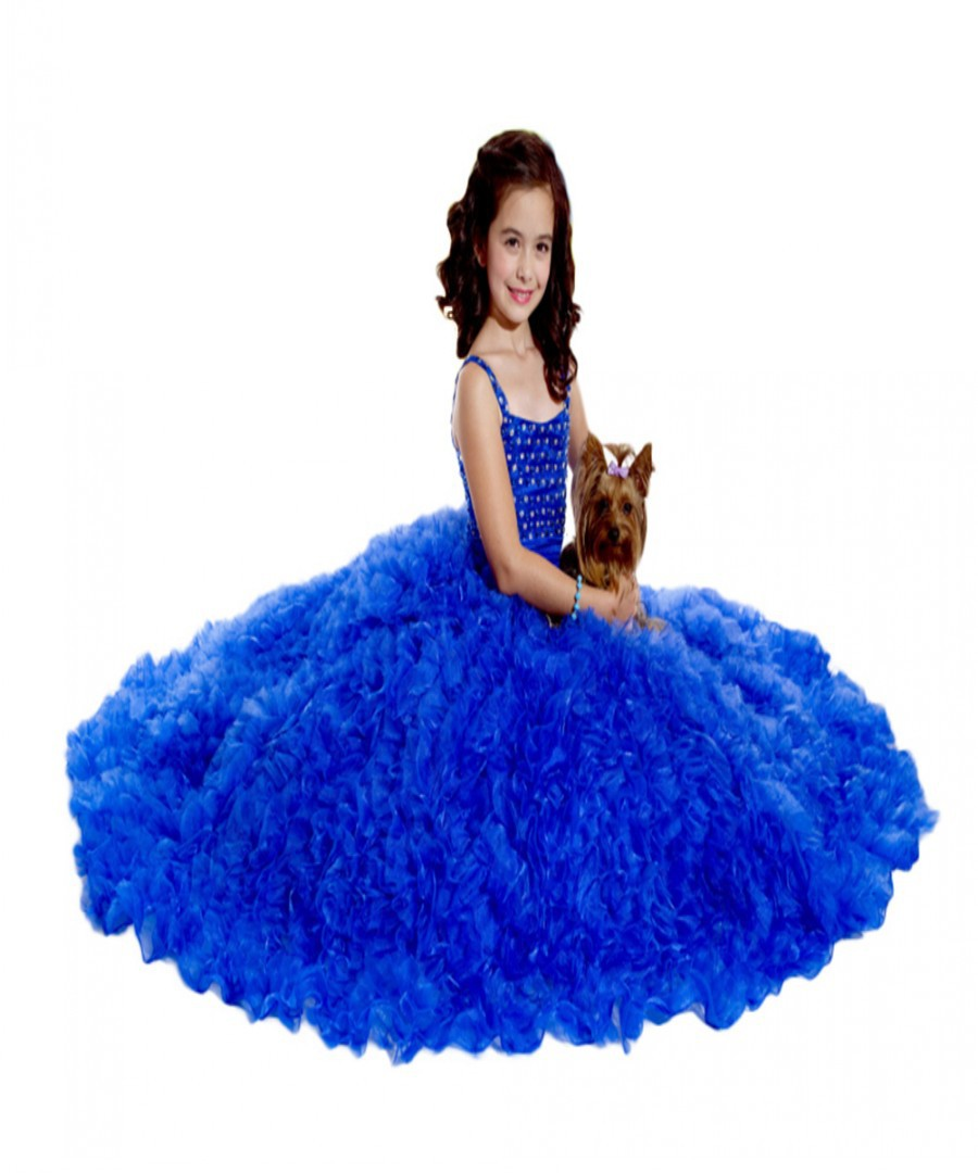 Buy spaghetti backless sweep train flower girls dresses for wedding buy spaghetti backless sweep train flower girls dresses for wedding royal blue crystal beaded custom made girls pageant dresses in cheap price on mibaba izmirmasajfo