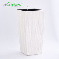 greenhouse rattan garden decoration artificial flowers home garden garden pots and planters concrete large tall vases
