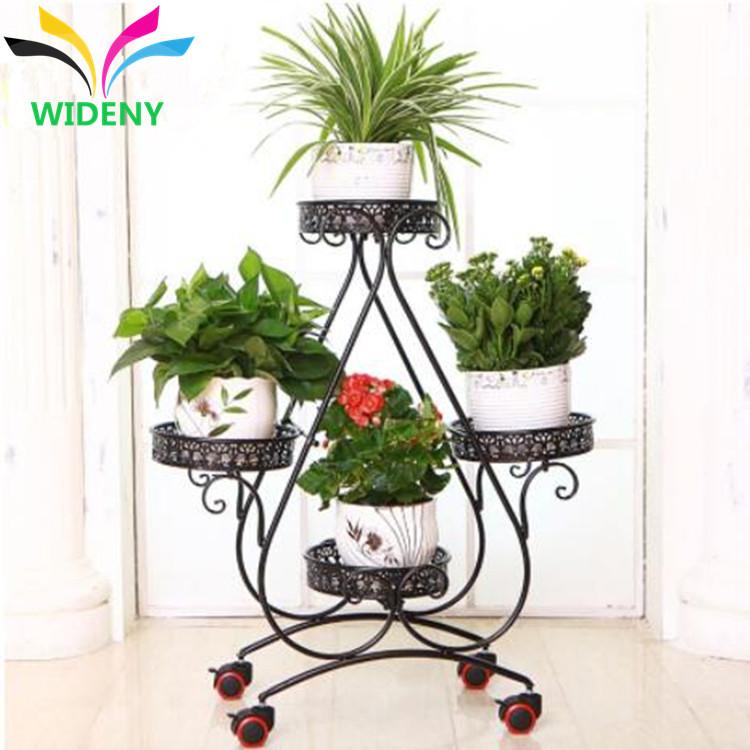 Fashion design customized wire metal multi-holders garden flowerpot stand