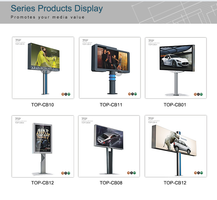 Outdoor Double Side Advertising Billboard and Light Pole LED Light Box