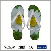 cheap price stylish italy flowers rubber sample slippers