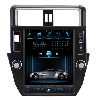 android 6.0 12.1 inch vertical screen android car dvd for Toyota prado LC150 2010-2013 gps navig