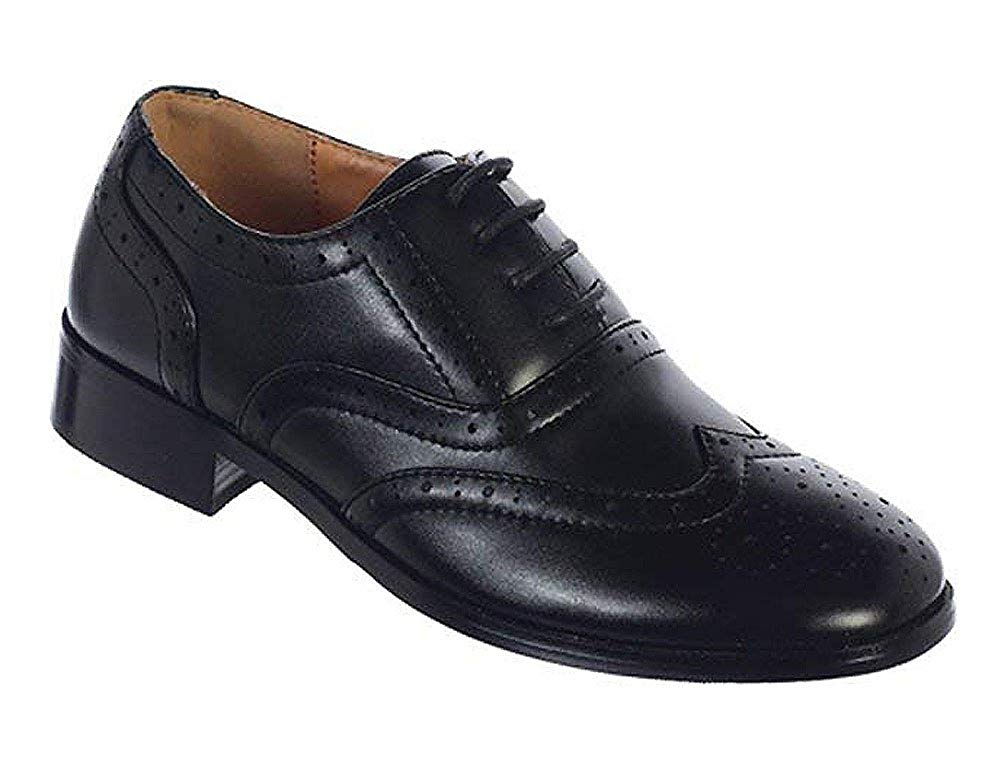 Zadas Boys Dress Shoes 957 Footwear Oxford Black Leather