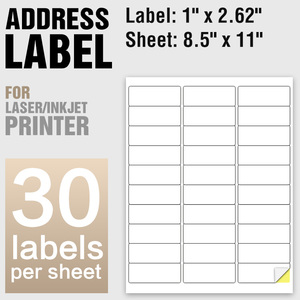 A4 Sheet self adhesive paper sticker label 30 labels Amazon sku barcode sticker and address label