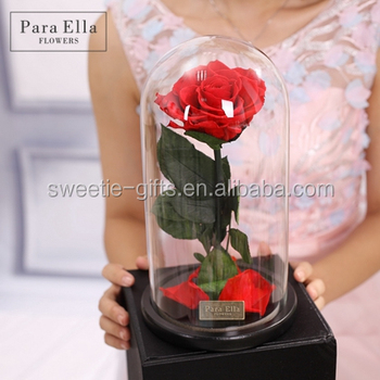 Hot S Natural Flower Last Year Preserved Rose In Gl Dome Wholes