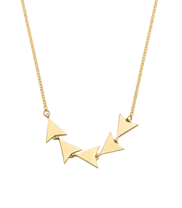 Inspire Jewelry new design gold arrow pendant necklace Mini Arrowhead Necklace 2018