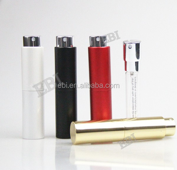 PA 1601 5ml 8ml Aluminum personalized perfume bottle atomizer for scent fragrance