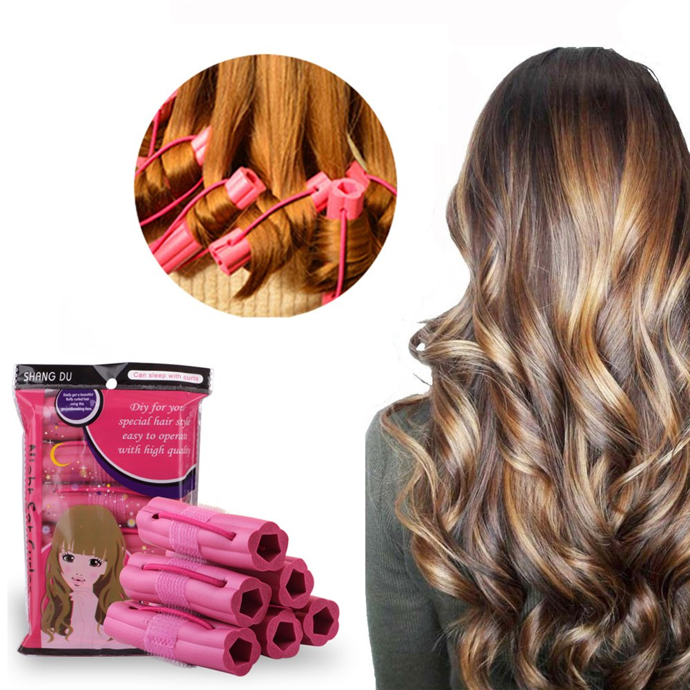 Hair Curler,Foam Sponge Hair Curlers,Pillow Hair Rollers,Hair Styling DIY Tool,Sleep Hair Rollers for Long, Short, Thick & Thin Hair,No Heat Foam Hair Curlers for Women & Girls,6Pcs Set