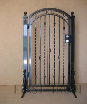 Decorative Single Garden Small Walkway Gate,Forged Iron Side Gate - Buy  Single Wrought Iron Gate,Decorative Iron Outdoor Gate,Iron Gates Models