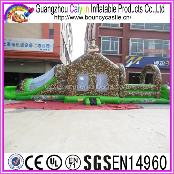 Hot Sale Camouflage Inflatable Rat Race Obstacle Course