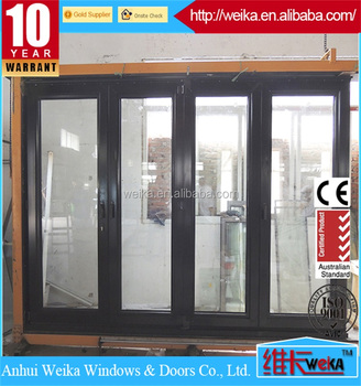 2018 China new design European style office folding door aluminum glass door