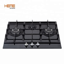 Umum Gas Built-In Instalasi Double Wok Burner Gas Cooker (PG7032G-CCB)
