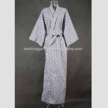 pick up lower price with on feet images of Cool Traditional Japanese Male Kimono Men's Robe Yukata 100% Cotton Men's  Bath Robe Kimono Sleepwear With Belt - Buy Cotton Pajamas Women Grey Plain  ...