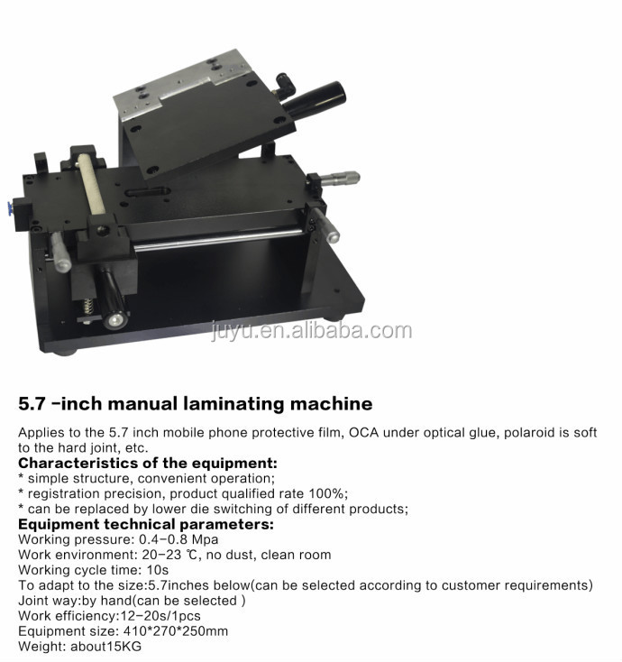 Feedback well!!! Manual Oca/polarizer Laminating machine LCD Film Laminator Refurbish Machine For All iphone
