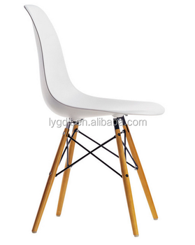 Midcentury Style Molded Plastic Side Wood Leg Base White Shell Chair With Bulk Price