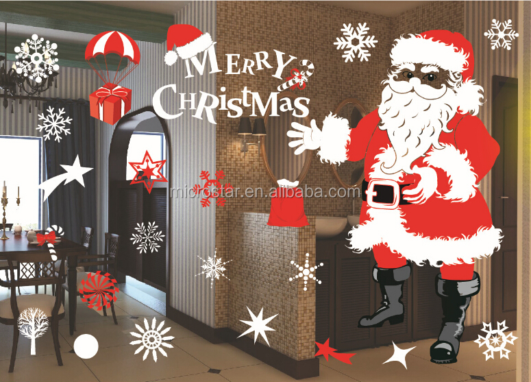 The living room bedroom window glass wall stickers can remove the decorative merry christmas stickers
