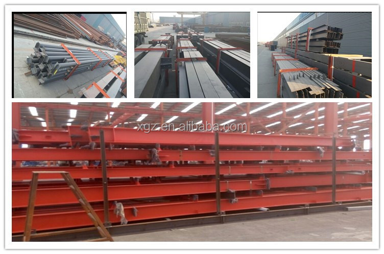 Prefabricated demountable Steel structural steel frame Workshop