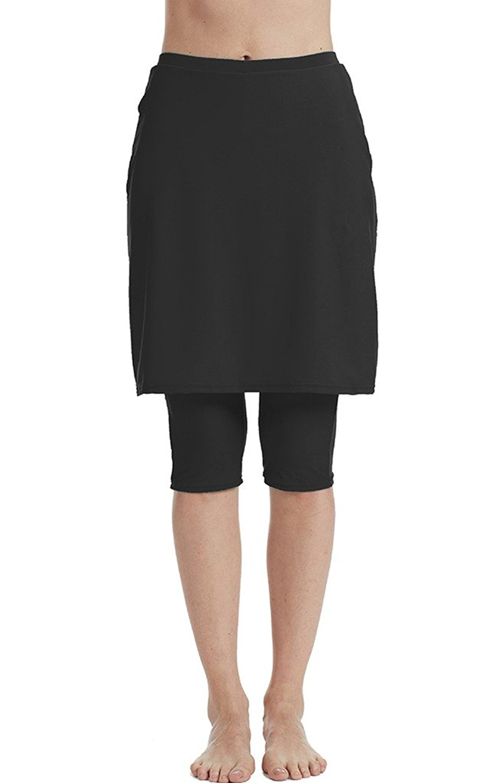 3f4d783104462e Get Quotations · Seagoo Swim Skirt with Leggings Women UV Protection  Skirted Swimming Leggings Pants