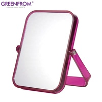 Plastic framed simple design table makeup mirror