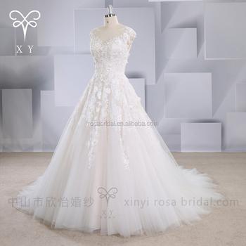 Xy-16119 Por Encargo 3d Encaje Vintage Una Línea Vestido De Boda De ...