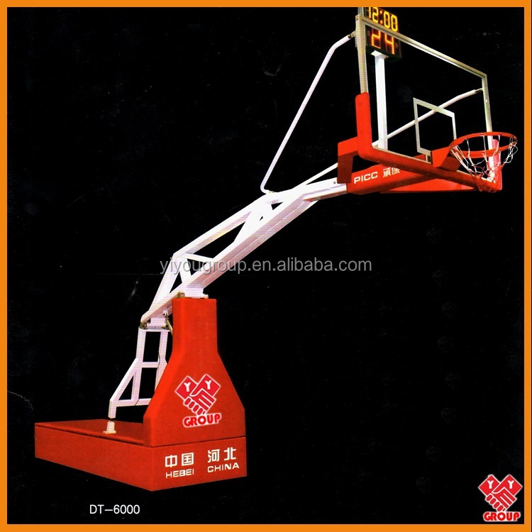 Manual hydraulic basketball hoop stand/system
