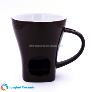 6oz personalised custom ceramic chocolate fondue mug