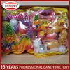 24units assorted fruit shaped jelly pudding candy in colored bag
