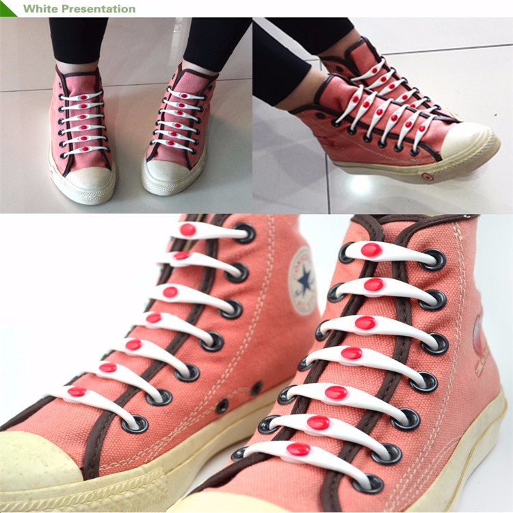 Shoe Accessory Custom Print Shoe Laces No Tie Rubber