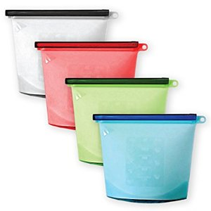 Reusable silicone Food Storage Bag Preservation Of Fruits, Vegetables, Meats,etc. Airtight Seal, Leak-proof, Keep Food Fresh