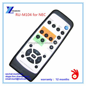 ZF Black 22 Keys REMOTE CONTROLLER RU-M104 for NEC with Silvery PVC Cover
