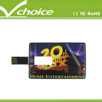 shipping from india promotional free logo credit card usb flash drive